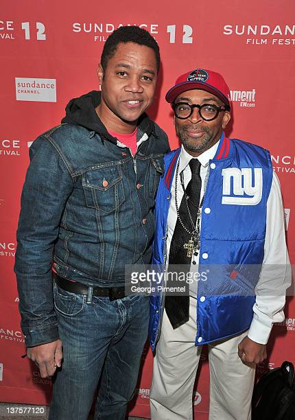 Actor Cuba Gooding Jr and filmmaker Spike Lee attend the Red Hook Summer premiere during the 2012 Sundance Film Festival held at Eccles Center...