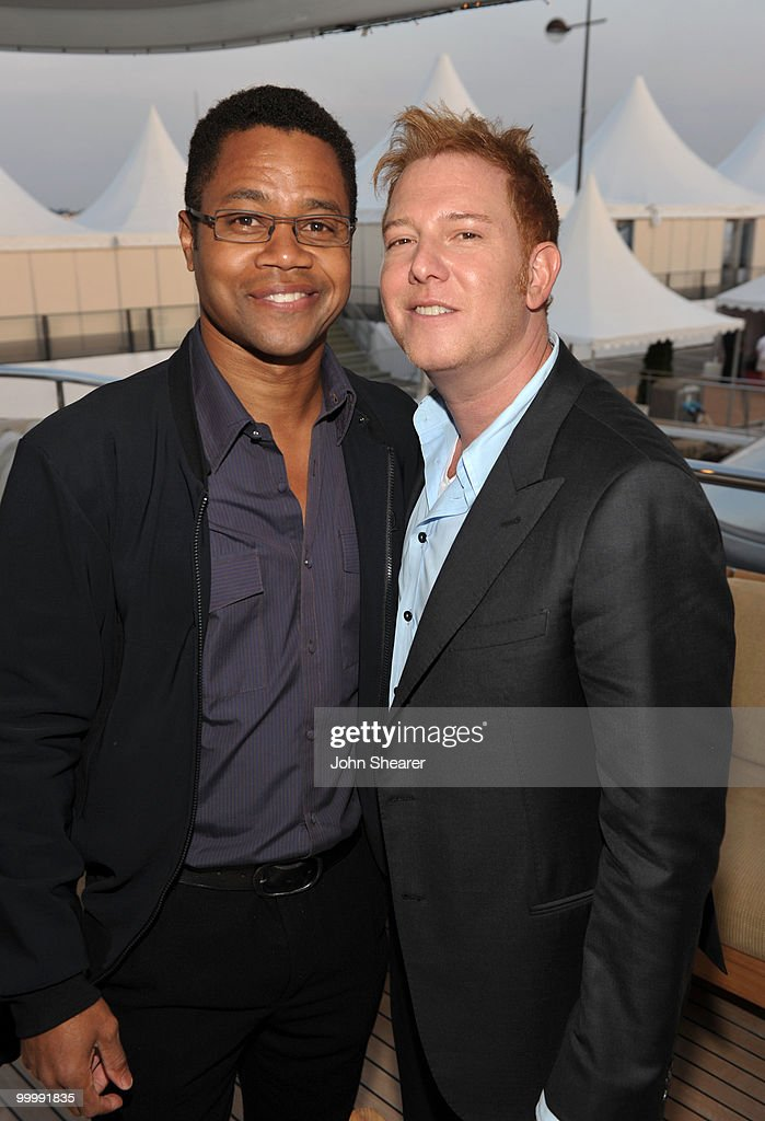 Actor Cuba Gooding Jr. (L) and Producer Ryan Kavanaugh attend the 'Art of Elysium Paradis Dinner and Party' at Michael Saylor's Yacht, Slip S05 during the 63rd Annual Cannes Film Festival on May 19, 2010 in Cannes, France.