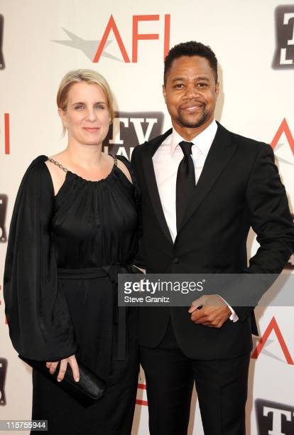 Actor Cuba Gooding Jr and Sara Kapfer arrive at AFI's 39th Annual Achievement Award Honoring Morgan Freeman at Sony Pictures Studios on June 9 2011...