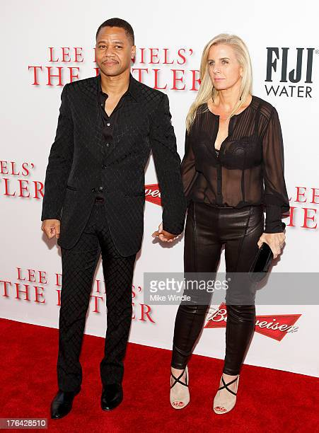 Actor Cuba Gooding Jr and Sara Kapfer attend LEE DANIELS' THE BUTLER Los Angeles premiere hosted by TWC Budweiser and FIJI Water Purity Vodka and...