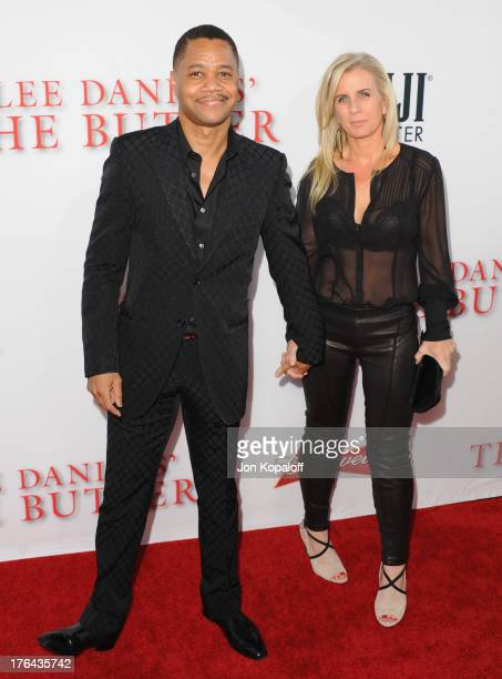 Actor Cuba Gooding Jr and wife Sara Kapfer arrive at the Los Angeles Premiere 'Lee Daniels' The Butler' at Regal Cinemas LA Live on August 12 2013 in...