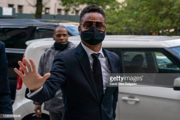 Actor Cuba Gooding Jr. Arrives at Criminal Court to set a trial date on October 18, 2021 in New York City. Mr. Gooding Jr. Is facing charges of...