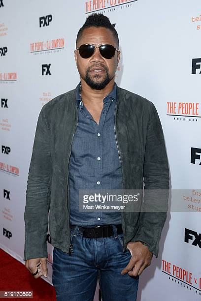 Actor Cuba Gooding Jr arrives at FX's For Your Consideration Event for The People v OJ Simpson American Crime Story at The Theatre at Ace Hotel on...