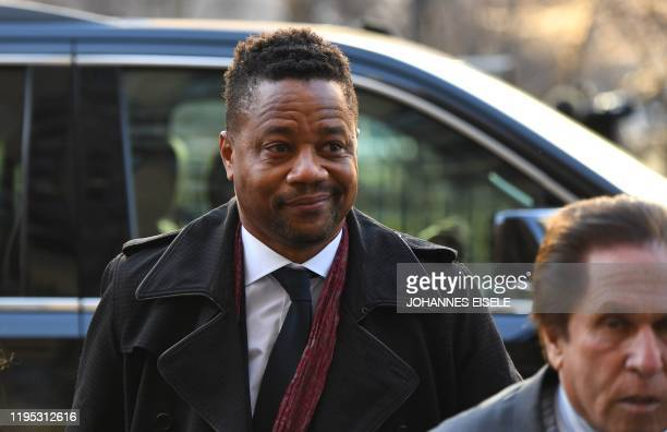 Actor Cuba Gooding Jr. Arrives at the Manhattan Criminal Court, on January 22, 2020 in New York City. - Oscar-winning actor Cuba Gooding Jr is facing...