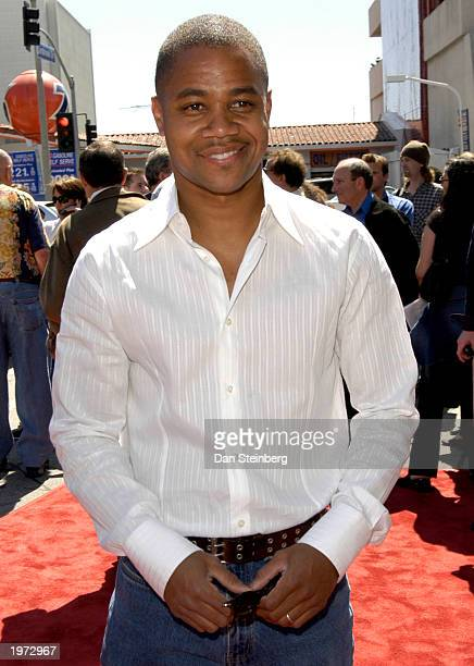 Actor Cuba Gooding Jr arrives at the premiere of the feature film 'Daddy Day Care' on May 4 2003 in Los Angeles California