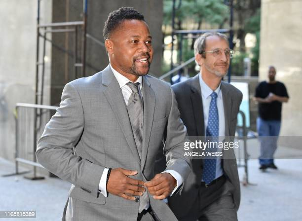 Actor Cuba Gooding Jr., arrives for his trial on his sexual assault case, on September 3 in New York. - Gooding will go on trial over accusations he...