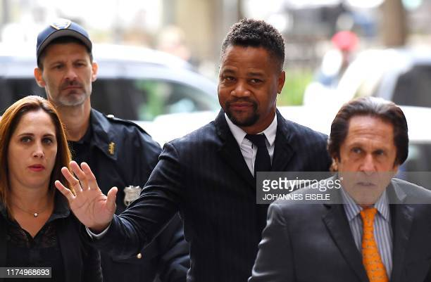 Actor Cuba Gooding Jr arrives for his trial on his sexual assault case on October 10 in New York City