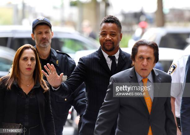 Actor Cuba Gooding Jr., arrives for his trial on his sexual assault case on October 10 in New York City.