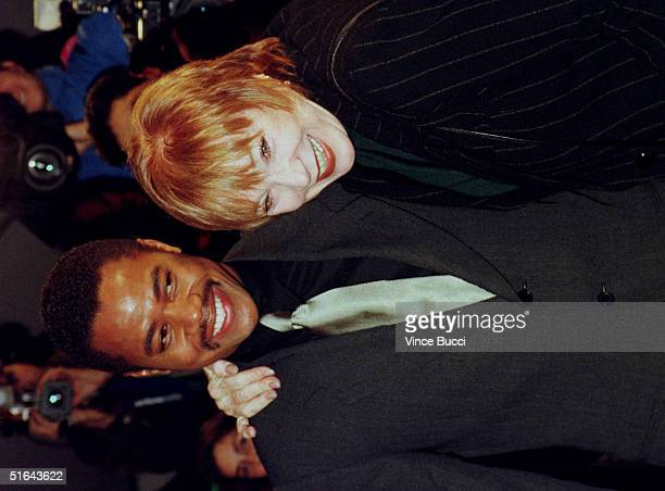 Actor Cuba Gooding Jr arrives with actress Shirley MacLaine for the premiere of As Good As It Gets 06 December in Los Angeles Gooding stars in the...