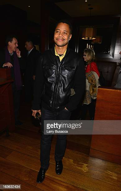 """Actor Cuba Gooding Jr. Attends the after party for the """"Phil Spector"""" premiere at the Time Warner Center on March 13, 2013 in New York City."""