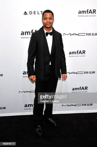Actor Cuba Gooding Jr attends the amfAR New York Gala to kick off Fall 2013 Fashion Week at Cipriani Wall Street on February 6 2013 in New York City