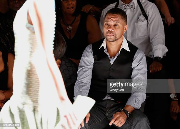 Actor Cuba Gooding Jr attends the B Michael America fashion show during MercedesBenz Fashion Week Spring 2014 at The Studio at Lincoln Center on...