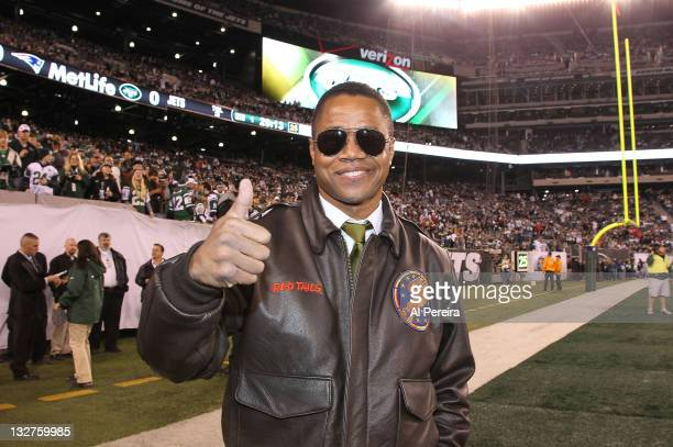 Actor Cuba Gooding Jr attends the New England Patriots Vs New York Jets game at the MetLife Stadium on November 13 2011 in East Rutherford New Jersey
