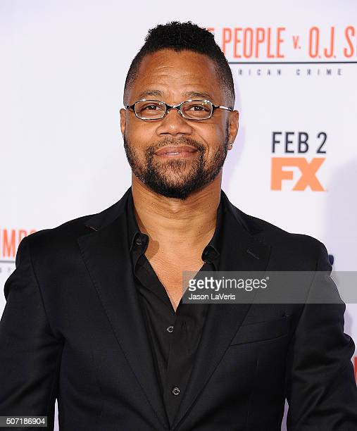 Actor Cuba Gooding Jr attends the premiere of 'American Crime Story The People V OJ Simpson' at Westwood Village Theatre on January 27 2016 in...
