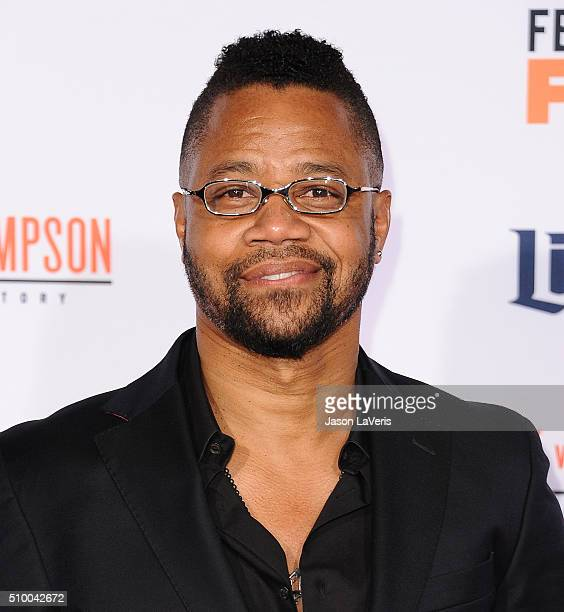 Actor Cuba Gooding Jr attends the premiere of American Crime Story The People V OJ Simpson at Westwood Village Theatre on January 27 2016 in Westwood...