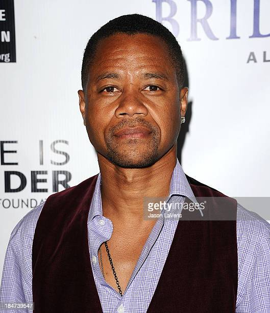 Actor Cuba Gooding Jr attends the premiere of Bridegroom at AMPAS Samuel Goldwyn Theater on October 15 2013 in Beverly Hills California