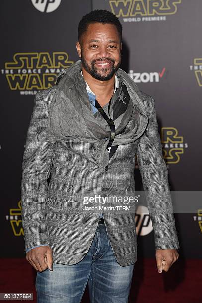 Actor Cuba Gooding Jr attends the Premiere of Walt Disney Pictures and Lucasfilm's Star Wars The Force Awakens on December 14 2015 in Hollywood...