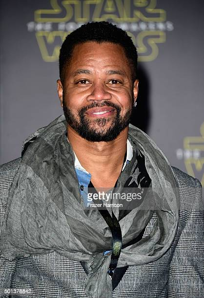 Actor Cuba Gooding Jr attends the premiere of Walt Disney Pictures and Lucasfilm's Star Wars The Force Awakens on December 14th 2015 in Hollywood...