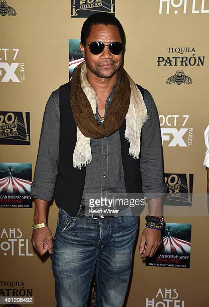 Actor Cuba Gooding Jr attends the premiere screening of FX's American Horror Story Hotel at Regal Cinemas LA Live on October 3 2015 in Los Angeles...