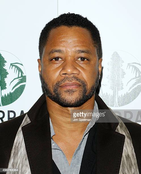 Actor Cuba Gooding Jr attends the Sierra Club's Act In Paris a night of comedy and climate action at Heath at the McKittrick Hotel on November 11...