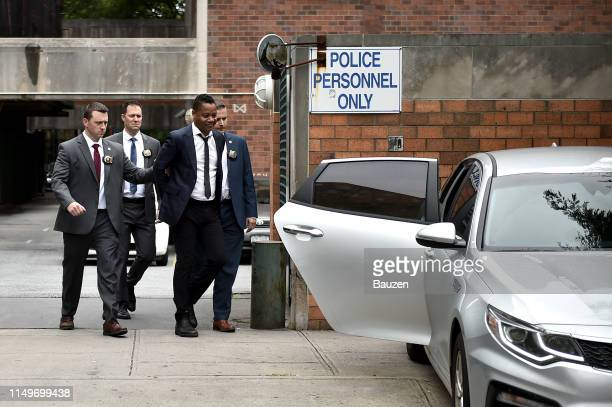 Actor Cuba Gooding Jr. Is seen after turning himself in to the New York police on June 13, 2019 in New York City. Gooding was charged with a...