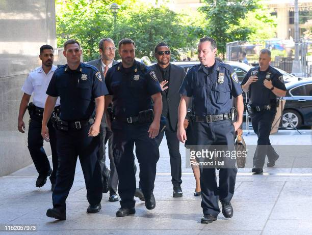 Actor Cuba Gooding Jr is seen outside criminal court where he faces charges related to an alleged groping incident on June 26 2019 in New York City