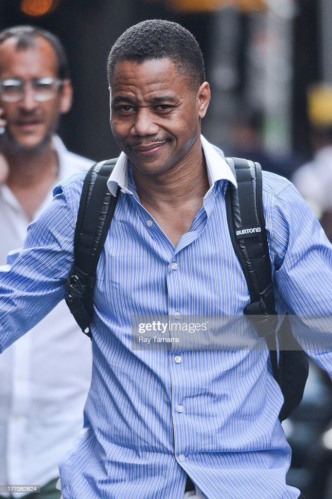 Actor Cuba Gooding Jr. leaves his Soho hotel on August 20, 2013 in New York City.