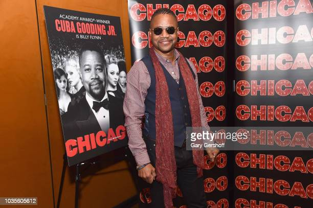 Actor Cuba Gooding Jr poses as he celebrates his return to 'Chicago' on Broadway at The Lambs Club on September 18 2018 in New York City