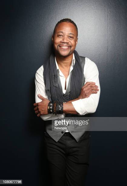 SYDNEY NSW Actor Cuba Gooding Jr poses during a photo shoot at the Shangri La Hotel in Sydney New South Wales