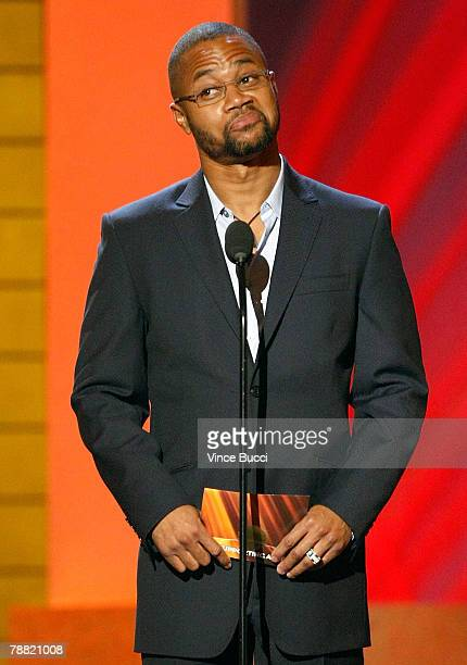 Actor Cuba Gooding Jr presents the award for 'Best Supporting Actress' onstage during the 13th annual Critics' Choice Awards held at the Santa Monica...