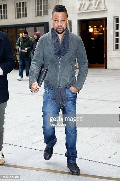 Actor Cuba Gooding Jr seen at the BBC Portland Place on February 12 2016 in London England
