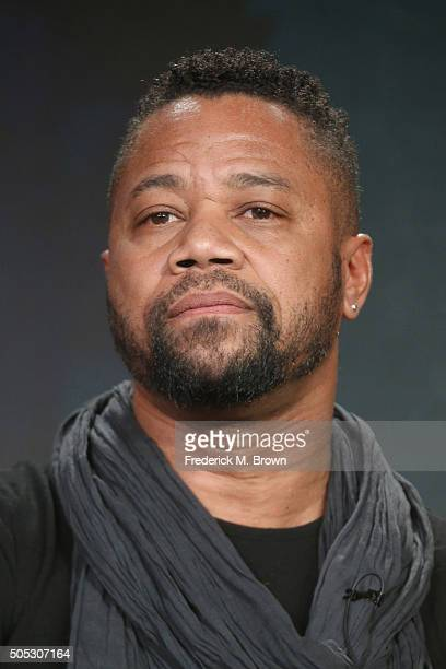 "Actor Cuba Gooding Jr. Speaks onstage during ""The People v. O.J. Simpson: American Crime Story"" panel discussion at the FX portion of the 2015 Winter..."