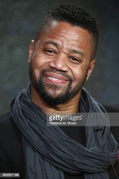 """Actor Cuba Gooding Jr. Speaks onstage during """"The People v. O.J. Simpson: American Crime Story"""" panel discussion at the FX portion of the 2015 Winter..."""