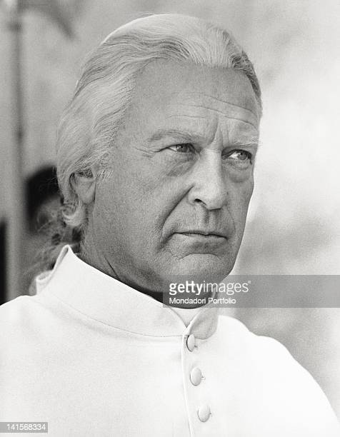Actor Curd Jurgens as Pope Pius VI in a scene from the movie 'CagliostroIm Schatten des Todes' Rome 1975