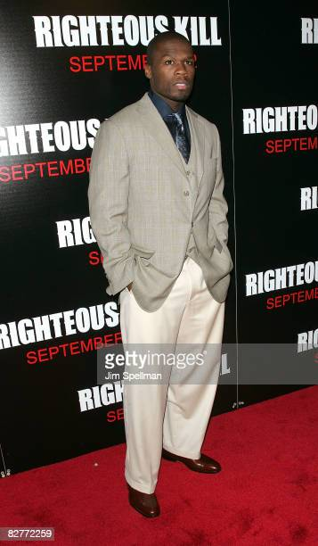 Actor Curtis '50 Cent' Jackson attends the New York premiere of 'Righteous Kill' at the Ziegfeld Theater on September 10 2008 in New York City