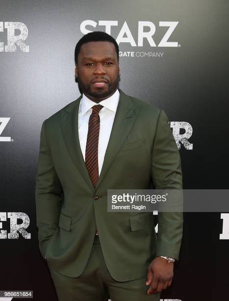 Actor Curtis '50 Cent' Jackson poses for a picture during the 'Power' Season 5 premiere at Radio City Music Hall on June 28 2018 in New York City