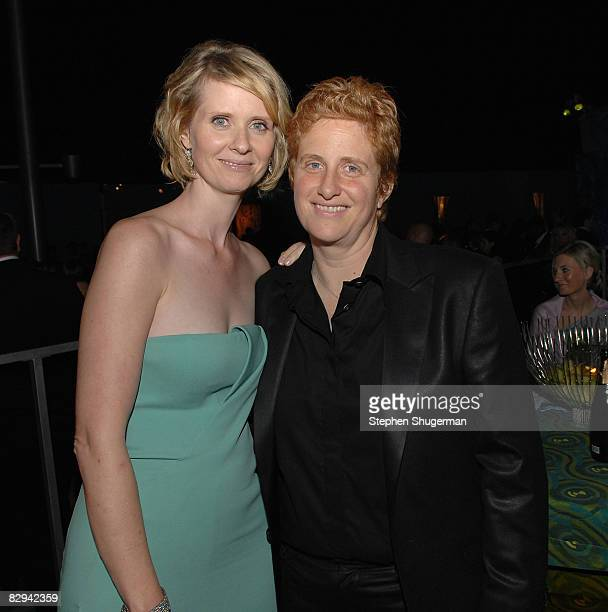Actor Cynthia Nixon and partner Christine Mariononi attend HBO's Post Primetime Emmy Awards Reception at the Pacific Design Center on September 21...