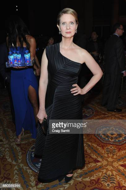 Actor Cynthia Nixon attends The 2017 IFP Gotham Independent Film Awards cosponsored by FIJI Water at Cipriani Wall Street on November 27 2017 in New...