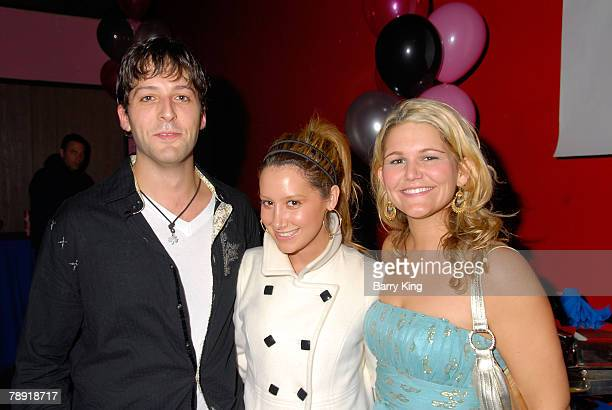 "Actor Cyrus Alexander, actress Ashley Tisdale and actress Annie Hendy attend Venice Magazine's after party for ""The Catholic Girl's Guide to Losing..."
