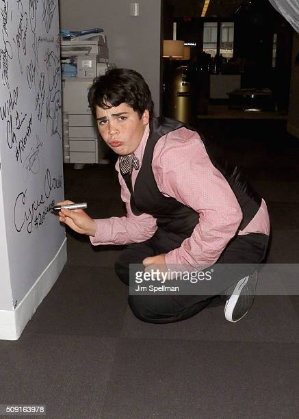 Actor Cyrus Arnold attends the AOL Build Speaker Series Cyrus Arnold and Nick Stoller Zoolander 2 at AOL Studios In New York on February 9 2016 in...