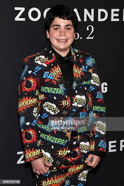 Actor Cyrus Arnold attends the Zoolander 2 World Premiere at Alice Tully Hall on February 9 2016 in New York City