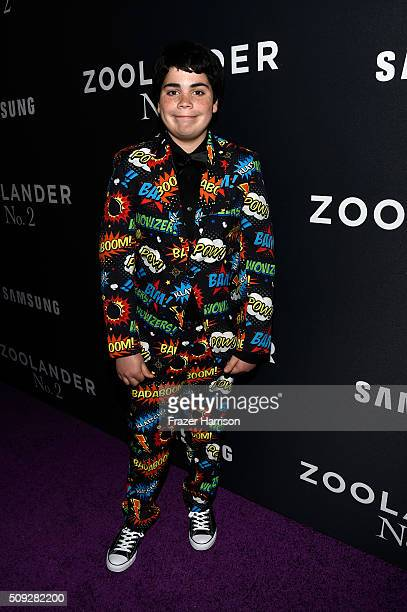 Actor Cyrus Arnold attends the Zoolander No 2 World Premiere at Alice Tully Hall on February 9 2016 in New York City