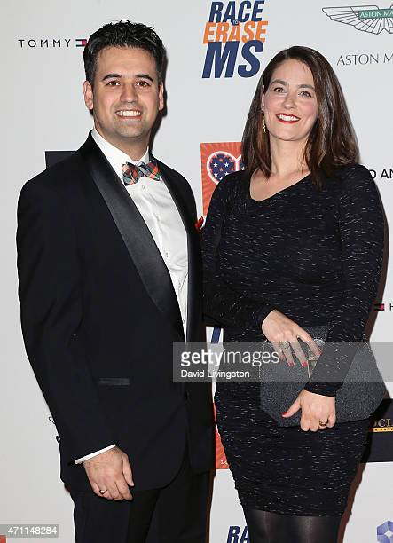 Actor Cyrus Wilcox and wife actress Clementine Ford attend the 22nd Annual Race to Erase MS event at the Hyatt Regency Century Plaza on April 24 2015...