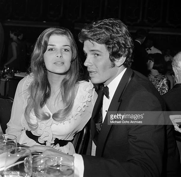 Actor Dack Rambo with Cristina Ferrare attend an event in Los AngelesCA
