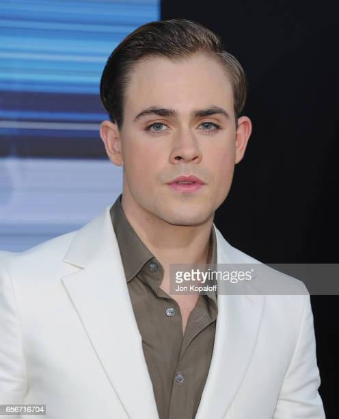 Actor Dacre Montgomery arrives at the Los Angeles Premiere 'Power Rangers' at the Westwood Village Theater on March 22 2017 in Westwood California