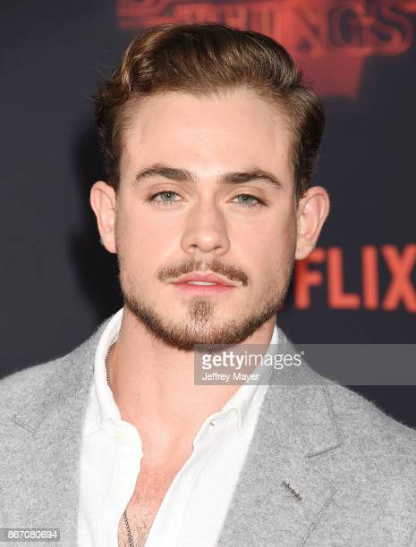 Actor Dacre Montgomery arrives at the Premiere Of Netflix's 'Stranger Things' Season 2 at Regency Westwood Village Theatre on October 26 2017 in Los...