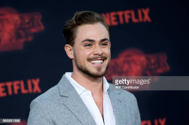 Actor Dacre Montgomery attends Netflix's 'Stranger Things 2' premiere on October 26 in Westwood California / AFP PHOTO / VALERIE MACON