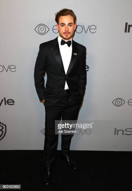 Actor Dacre Montgomery attends the 2018 InStyle and Warner Bros 75th Annual Golden Globe Awards PostParty at The Beverly Hilton Hotel on January 7...