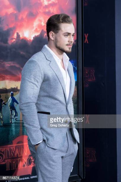 Actor Dacre Montgomery attends the Premiere Of Netflix's 'Stranger Things' Season 2 at the Regency Bruin Theatre on October 26 2017 in Los Angeles...