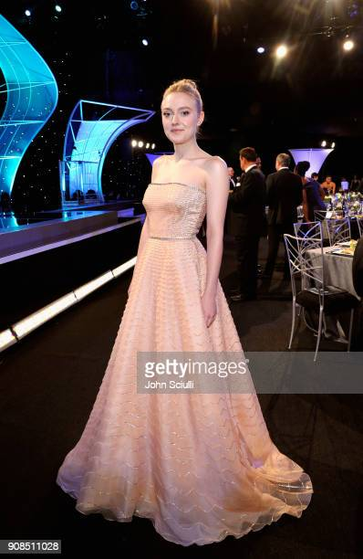 Actor Dakota Fanning attends the 24th Annual Screen Actors Guild Awards at The Shrine Auditorium on January 21 2018 in Los Angeles California...